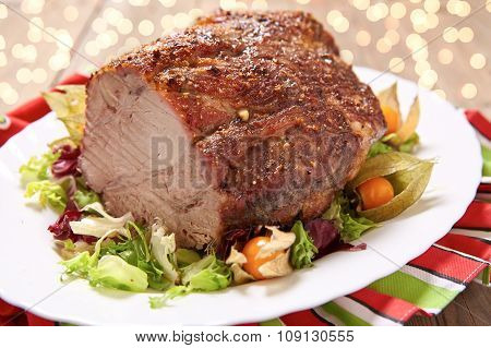 Roasted pork neck