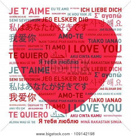 Love Message Card From The World