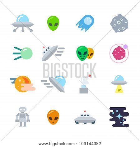 Alien Icons Set