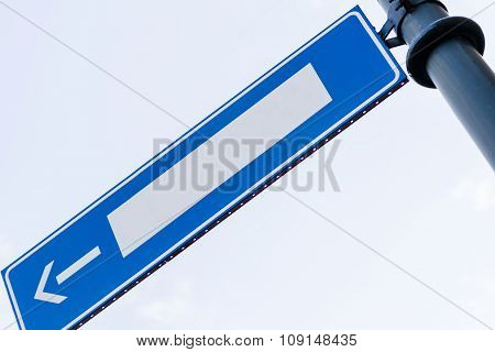 Empty Road Sign With Direction Arrow