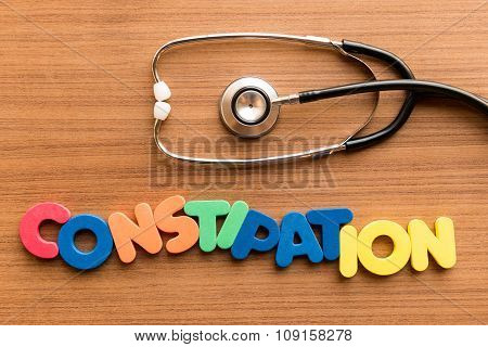Constipation Colorful Word