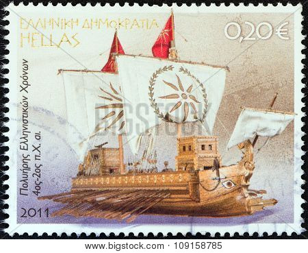 GREECE - CIRCA 2011: A stamp printed in Greece from the