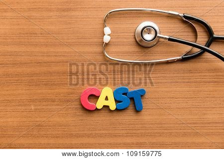 Cast Colorful Word