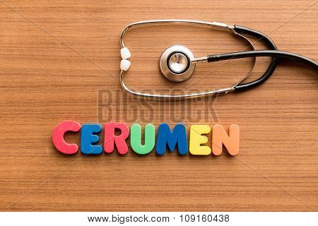 Cerumen Colorful Word