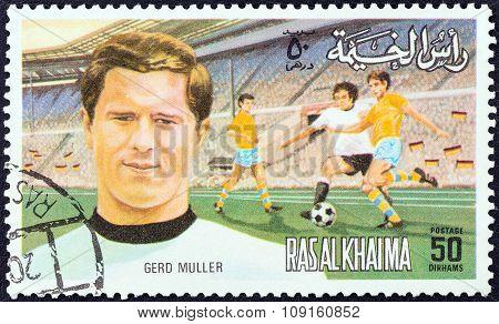 RAS AL-KHAIMAH EMIRATE - CIRCA 1972: A stamp printed in United Arab Emirates from the