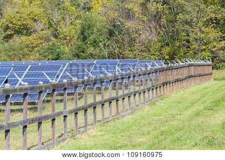 Fenced In Solar Power Farm