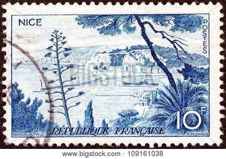 FRANCE - CIRCA 1955: A stamp printed in France from the