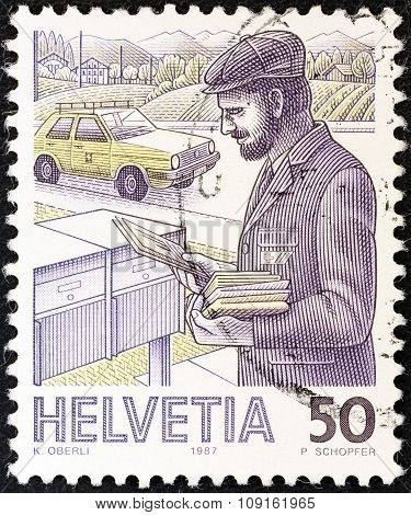 SWITZERLAND - CIRCA 1986: A stamp printed in Switzerland from the