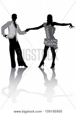 Couple Dancing Latino