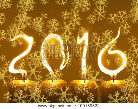 Happy new year 2016 - snowflakes