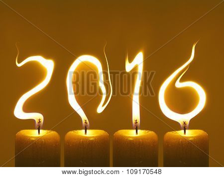 Happy new year 2016 - candles
