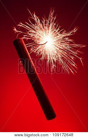 conflagrant dynamite stick close up