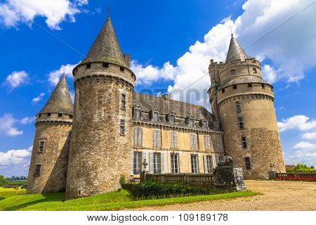 impressive medieval castles of France. Dordogne region
