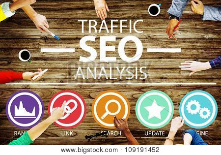 Search Engine Optimisation Analysis Information Data Concept