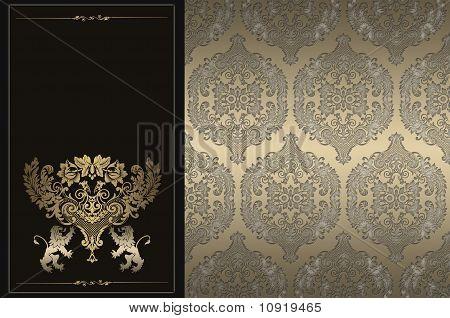Decorative golden background.