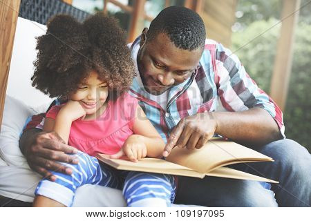 Father Daughter Bonding Cozy Parenting Education Concept