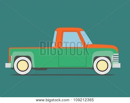 Vintage  Car. Isolated