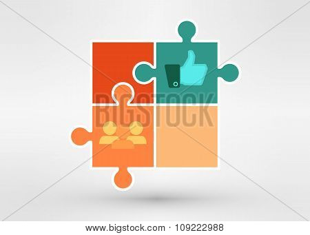 Modern Presentation Diagramm With Business People And Speech Bubble