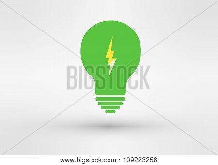 An Attractive Green Energy Vector Logo Symbol.