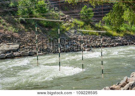 Practice  Gates For Whitewater Kayaks