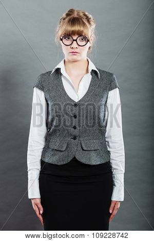 Portrait Of Elegant Young Businesswoman Secretary.