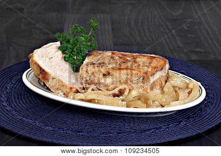 Roast Pork Loin And Onions.