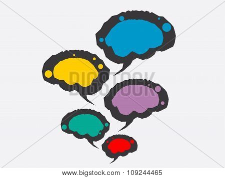 vector illustration of brain