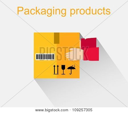 Packing Product Icon Design Style