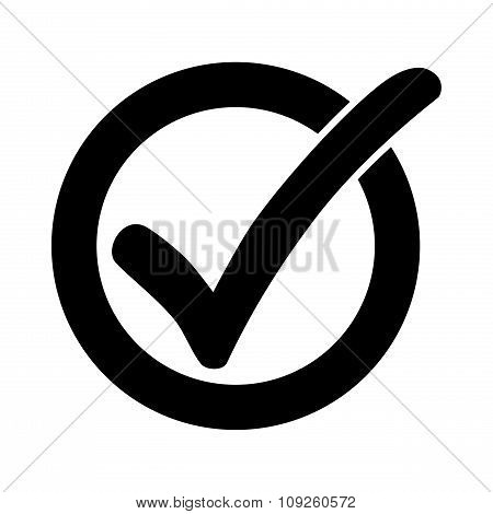 Black Check Mark Or Tick Icon In A Circle