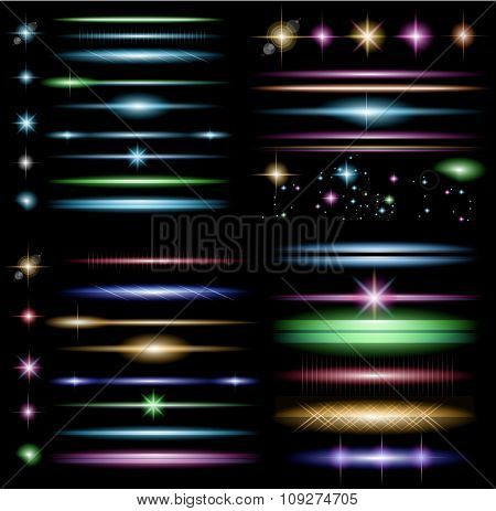 Sparkle Collection With A Lot Of Different Shapes: Circolar Lightning , Point Of Lights, Spar