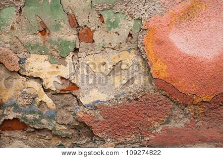 Old Destroyed Plaster