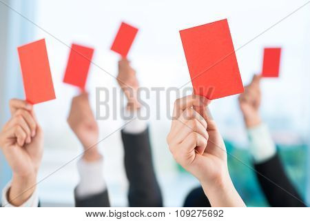 Showing red cards