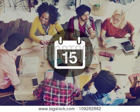 Fifteenth Memo Schedule Calendar Plan Concept