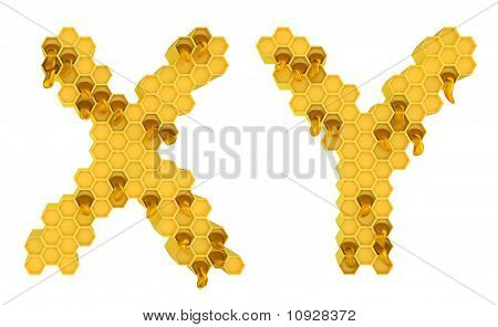Honey Font X And Y Letters Isolated
