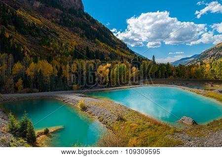 Turquoise Pools Near Pandora Mine
