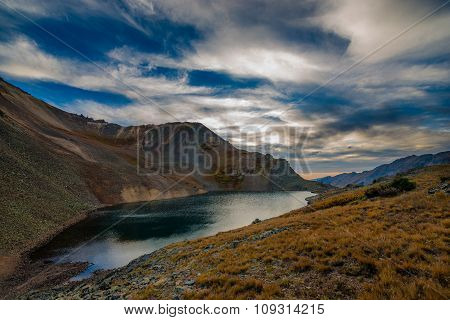 Crystal Lake At Sunset Ophir Pass Colorado