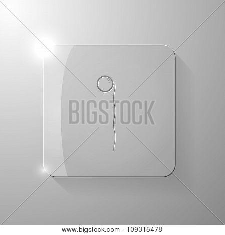 Black pence-nez on a glass square
