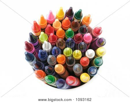 Colorful Crayons Close-Up