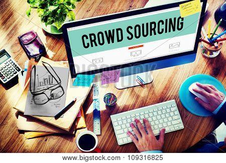 Crowdsourcing Collaboration Group Online Community Concept