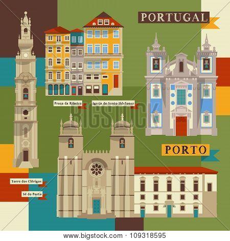 Sights Of Porto. Portugal, Europe.