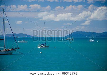 Sailboats near Airlie Beach