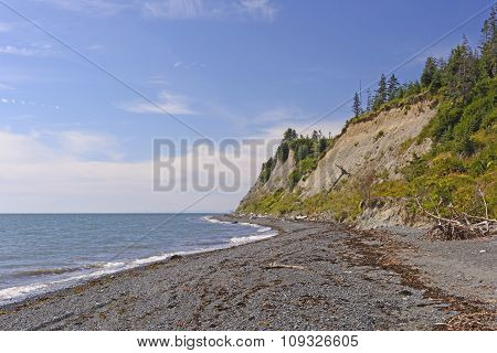 Remote Coast On A Sunny Day