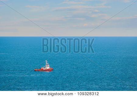 Tugboat In The Sea