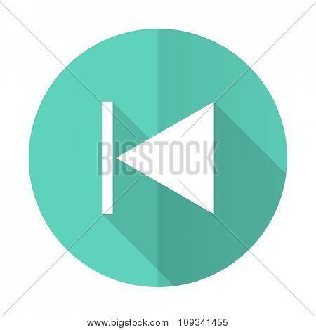prev blue web flat design circle icon on white background