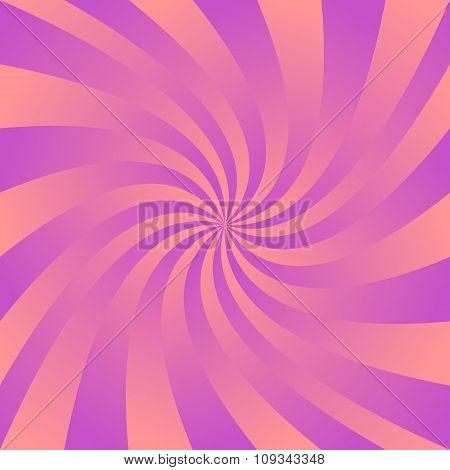 Magenta orange twirl wallpaper