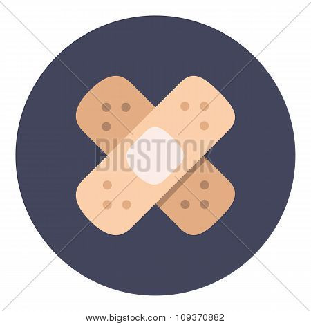 Tape plaster icon vector
