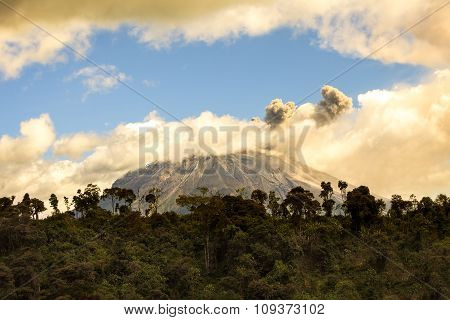 Tungurahua Volcano Spewing Restive Plumes Of Ash