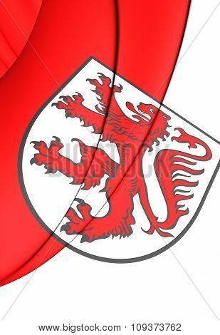 Flag Of Braunschweig, Germany (lower Saxony).