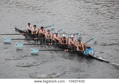 Boston - October 24: University Of North Carolina At Chapel Hill Men's Crew Competes In The Head Of