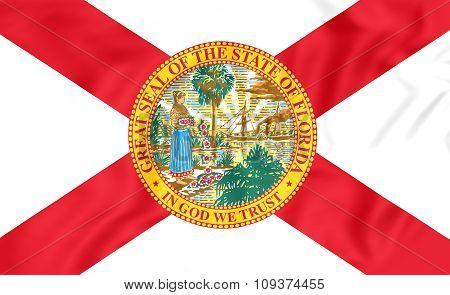 Flag Of Florida, Usa.